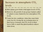 increases in atmospheric co 2 levels60