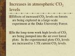 increases in atmospheric co 2 levels62