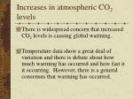 increases in atmospheric co 2 levels66