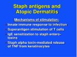 staph antigens and atopic dermatitis