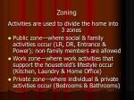 zoning