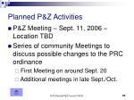 planned p z activities