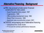 alternative financing background