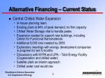 alternative financing current status5