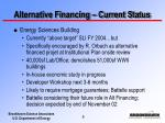 alternative financing current status6