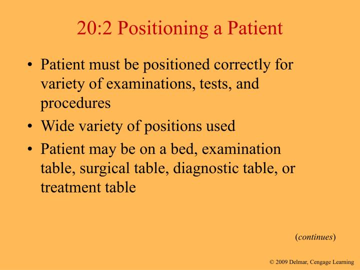 20:2 Positioning a Patient