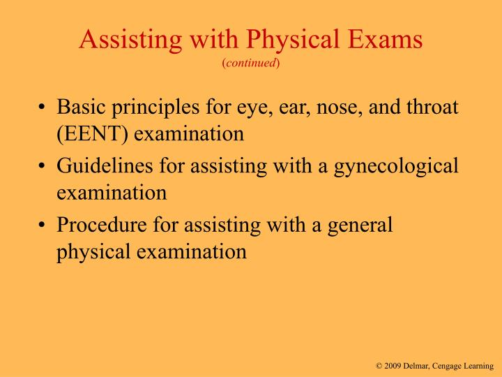 Assisting with Physical Exams