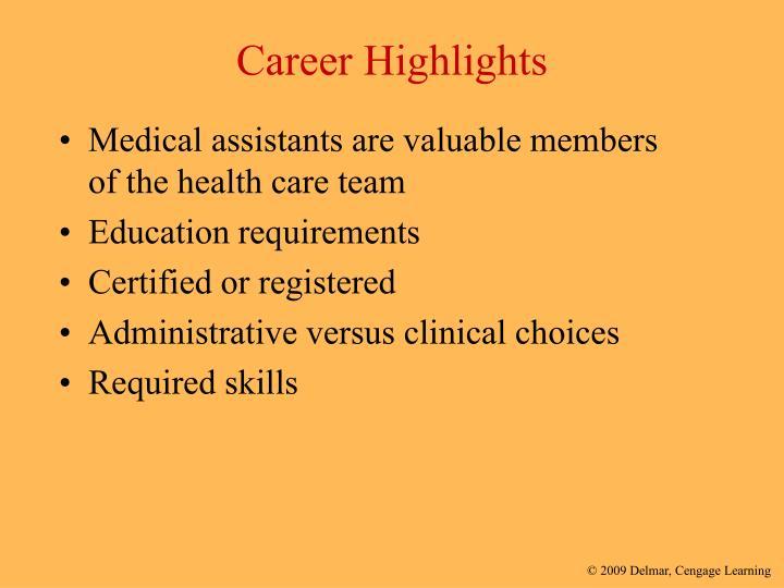 Career highlights