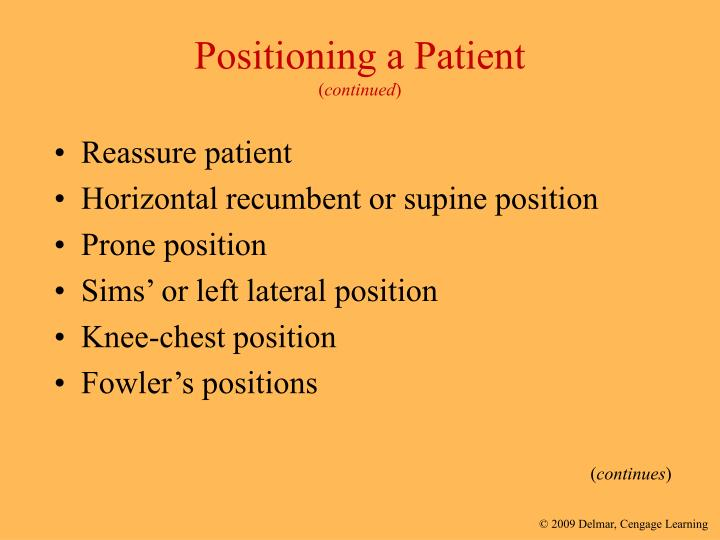 Positioning a Patient