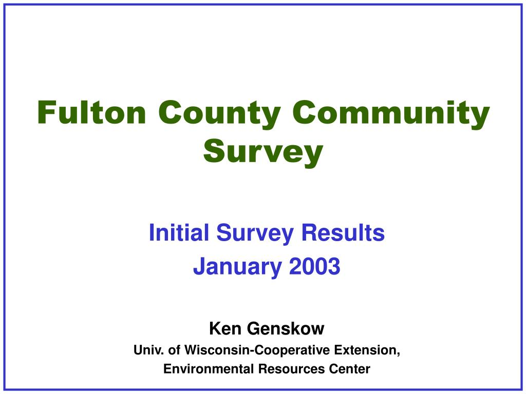 fulton county community survey l.