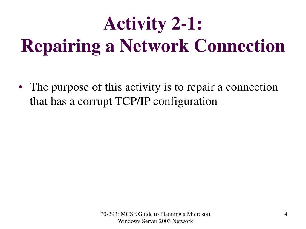 Activity 2-1: