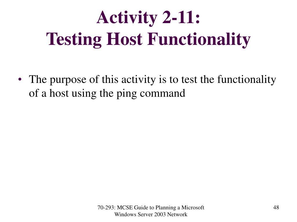 Activity 2-11: