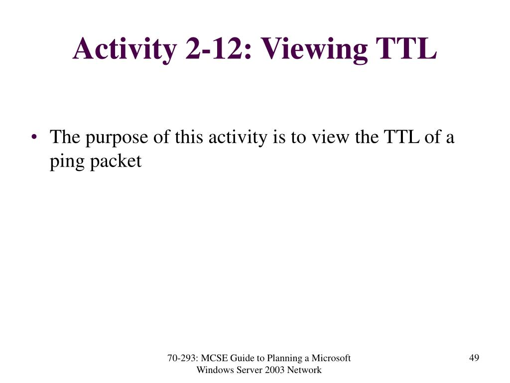 Activity 2-12: Viewing TTL
