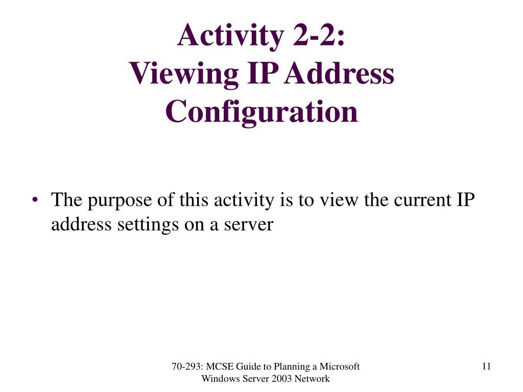 Activity 2-2: