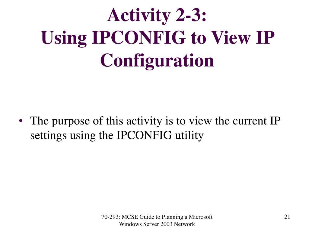 Activity 2-3: