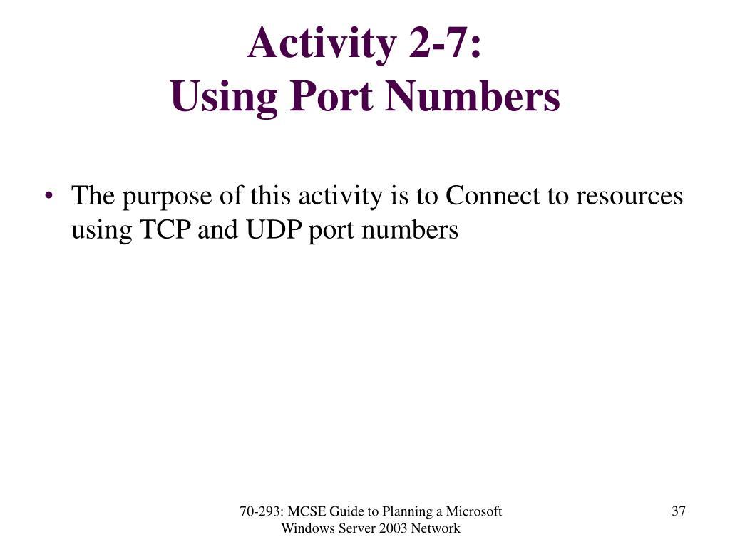 Activity 2-7:
