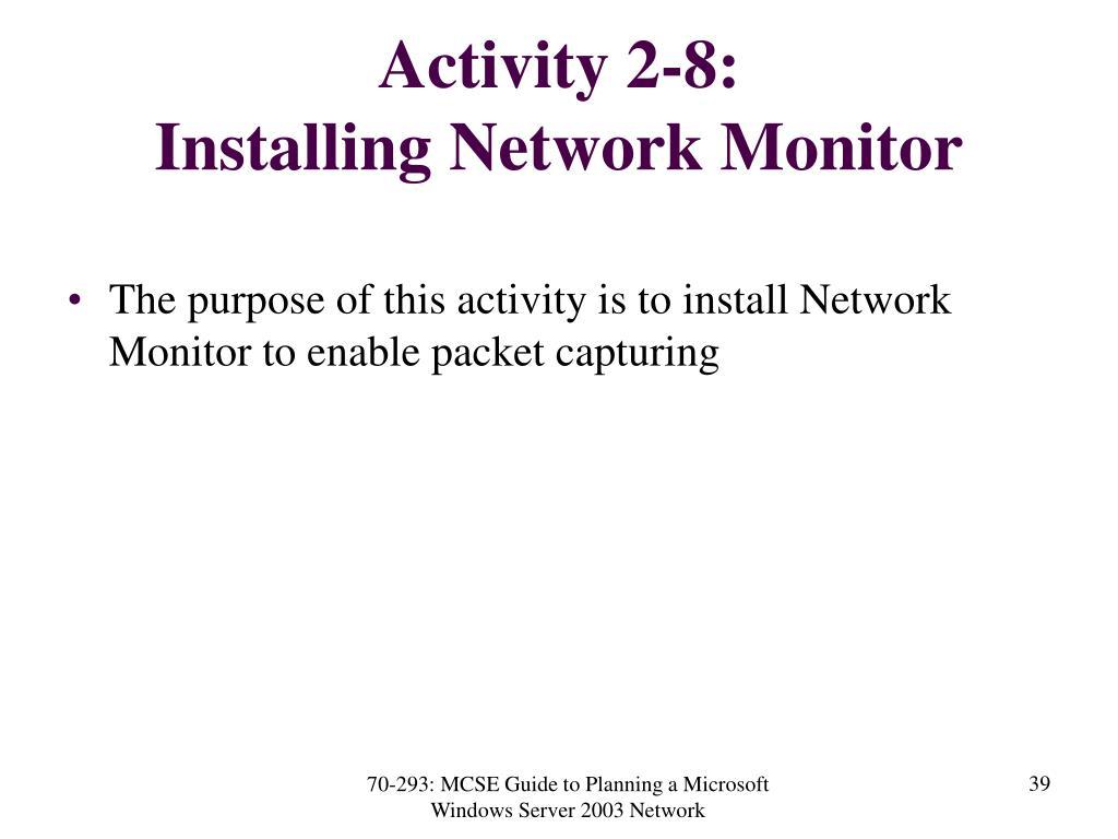 Activity 2-8: