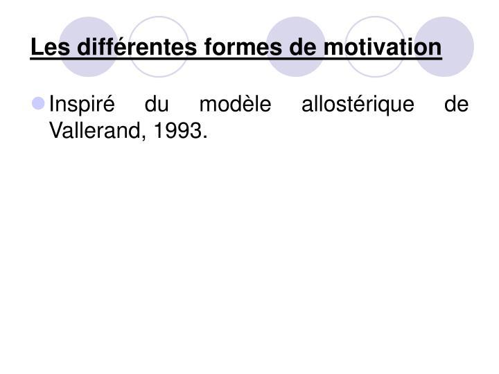 Les différentes formes de motivation
