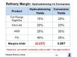 refinery margin hydroskimming vs conversion