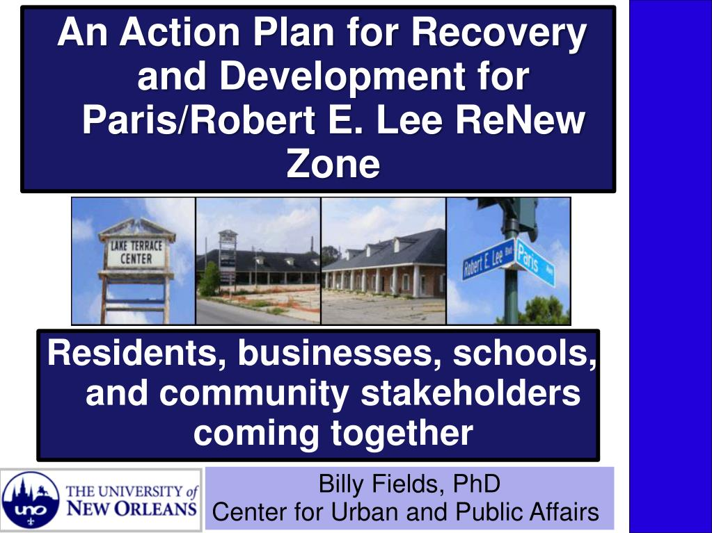 An Action Plan for Recovery and Development for Paris/Robert E. Lee