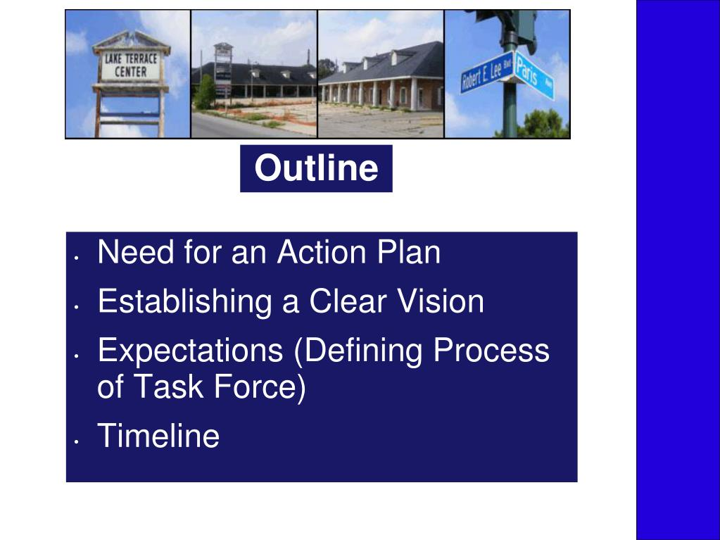 Need for an Action Plan