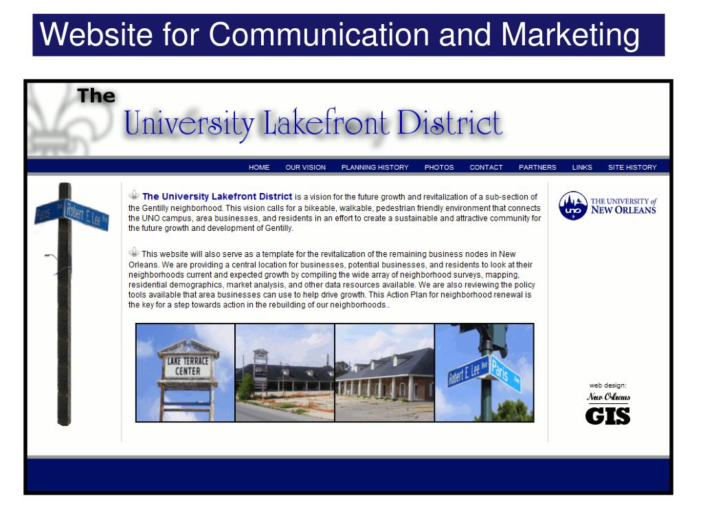 Website for Communication and Marketing