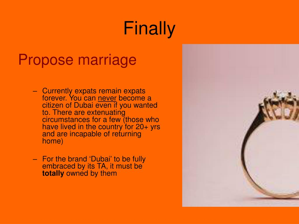 Propose marriage
