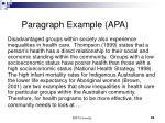 paragraph example apa