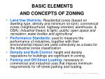 basic elements and concepts of zoning