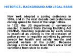 historical background and legal basis