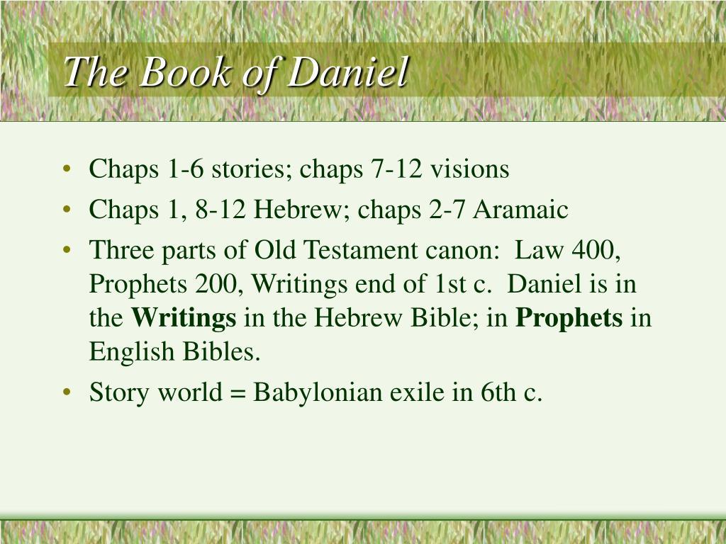 the book of daniel l.