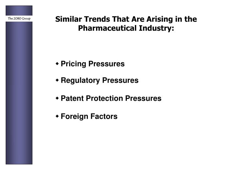 Similar Trends That Are Arising in the Pharmaceutical Industry: