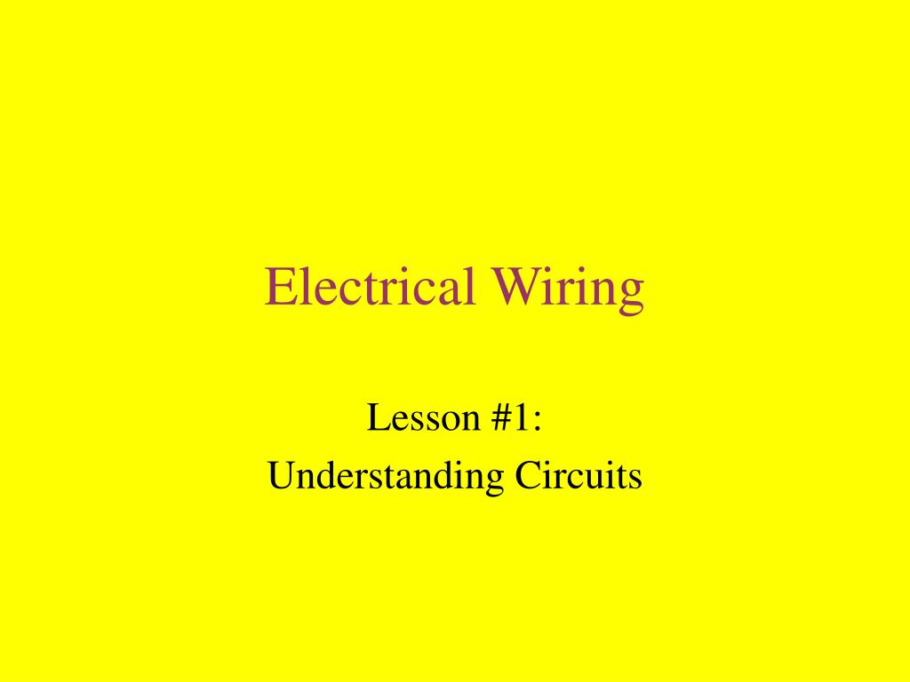 Superb Ppt Electrical Wiring Powerpoint Presentation Id 499119 Wiring Cloud Hisonuggs Outletorg