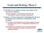 goals and strategy phase i
