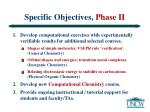 specific objectives phase ii