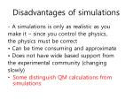 disadvantages of simulations