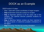 dock as an example