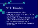 part 1 procedure31
