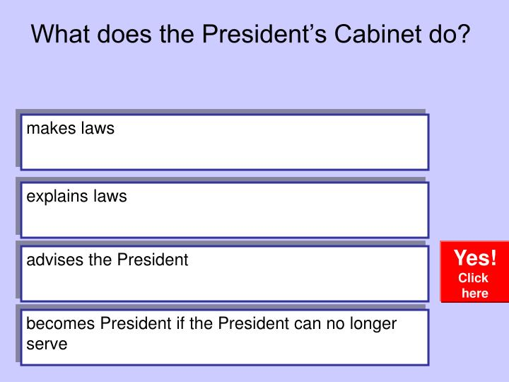 What Does The Presidentu0027s Cabinet Do?