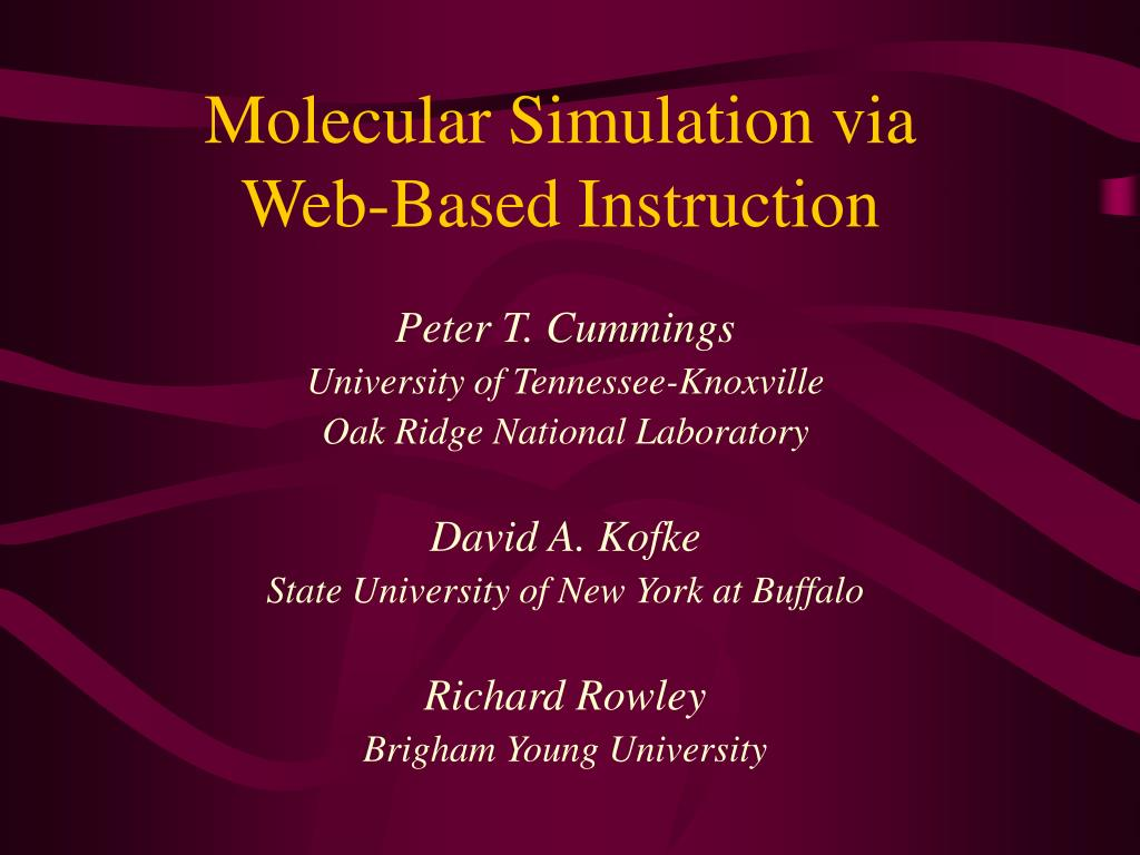 molecular simulation via web based instruction l.