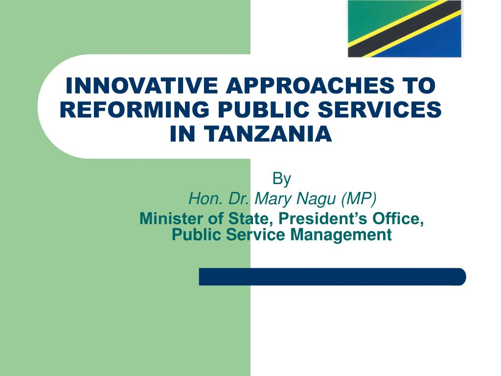 innovative approaches to reforming public services in tanzania