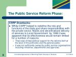 the public service reform phase