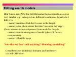 editing search models