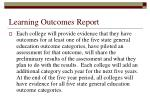 learning outcomes report