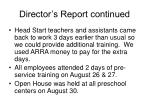 director s report continued32