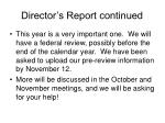 director s report continued34