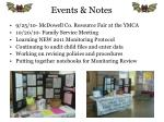 events notes