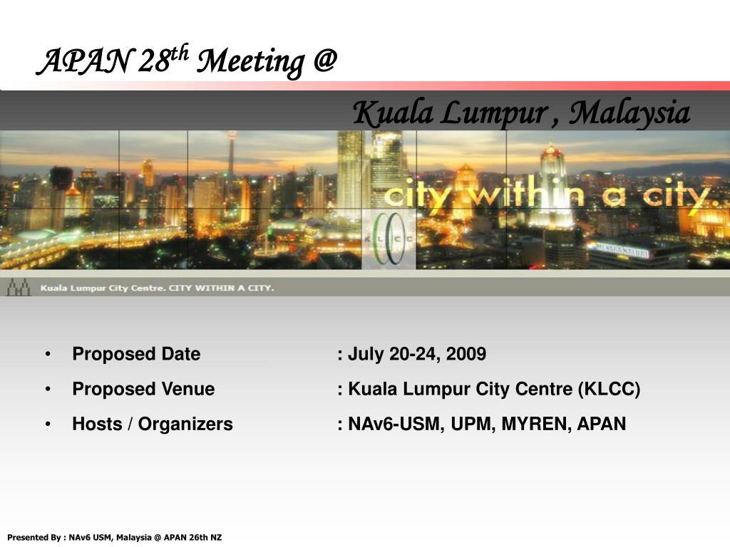 apan 28 th meeting @ l.