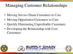 managing customer relationships