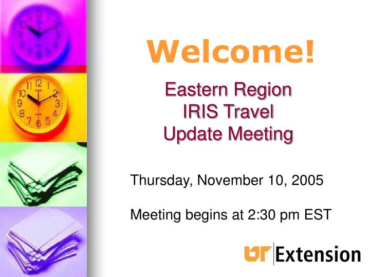 eastern region iris travel update meeting n.